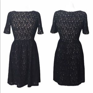 Adrianna Papell Black Lace Dress Lined